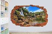 Adesivi Murali WATERFAL FIUME SMASHED WALL ADESIVO