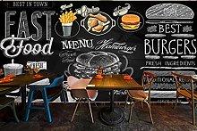 Adesivi muro 3d Murale del ristorante fast food