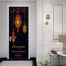 Adesivi per porte 3d di musulmano Eid Mubarak