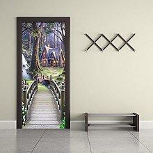 Adesivi Per Porte Adesivo Murale 3D Paesaggio