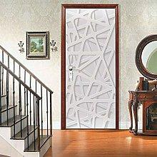 Adesivi Per Porte Adesivo Per Porta 3D Bianco