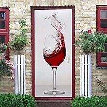 Adesivi Per Porte Bicchiere Da Vino 3D