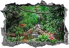 Adesivo, 3d, giungla, arte della parete, scenario,