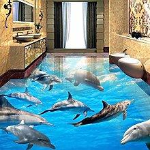 Adesivo 3D World Underwater Dolphin Bagno