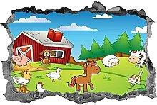 Adesivo animali della fattoria Adesivo per bambini