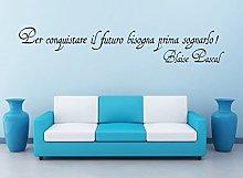 Adesivo Blaise Pascal per conquistare Il Futuro