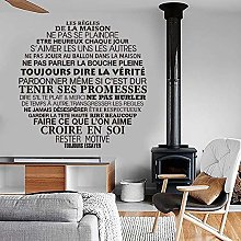 Adesivo Citazione Francese Regole Della Casa