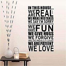 Adesivo da parete 101 cm * 57 cm Regole della casa