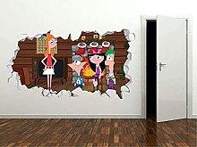Adesivo da parete 3D Aspetto natalizio- Adesivo