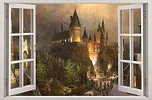 Adesivo da parete 3D Vista da finestra