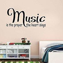 Adesivo Da Parete 80Cm * 39.1Cm Music Quotes