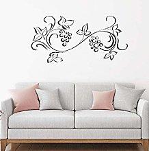 Adesivo da parete 86X42cm Motivo floreale Adesivo