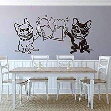 Adesivo da parete Adesivo Cartoon Bulldog Toast
