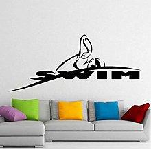 Adesivo Da Parete Adesivo Da Nuoto Logo Nome Nuoto