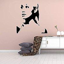 Adesivo da parete Art Flower Girl Adesivo in
