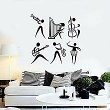 Adesivo da parete Banda di strumenti musicali Jazz