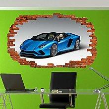 Adesivo Da Parete Blu 3D Art Art Murale