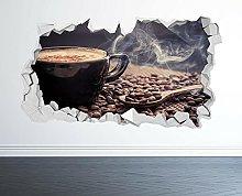 ADESIVO DA PARETE CAFFÈ 3D LOOK - COFFEE SHOP