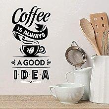 Adesivo da parete Citazione Ristorante Cafe