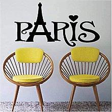 Adesivo da parete Città Parigi Rimovibile Art