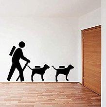 Adesivo da parete Escursionista con cane