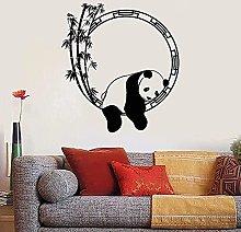 Adesivo da parete in PVC animale Panda Bambù in