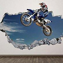 Adesivo da parete in PVC per motocross,