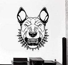 Adesivo da parete in vinile Angry Dog Animal Pet