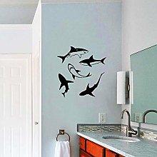 Adesivo Da Parete In Vinile Shark Decorazione Del