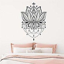 Adesivo da parete Lotus Bohemian Decal Mandala