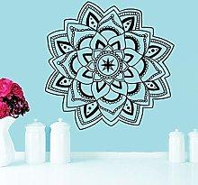 Adesivo Da Parete Mandala Yoga Gioielli Simbolo