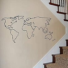 Adesivo da parete Mappa del mondo Adesivo da