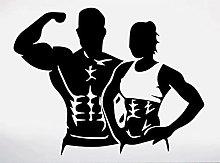 Adesivo da parete murale Bodybuilder Fitness Coach