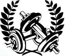 Adesivo da parete murale Bodybuilding Muscle Man
