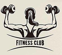 Adesivo da parete murale Fitness Club PVC