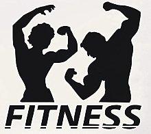 Adesivo da parete murale Fitness Decalcomania
