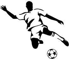 Adesivo da parete murale Football Boy Art