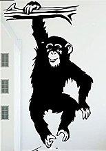 Adesivo da parete murale Funny Monkey Tree Carta