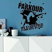 Adesivo da parete Parkour Adesivo da parete Sport