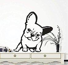 Adesivo da parete per cani da compagnia Bulldog