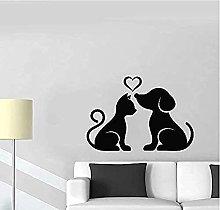 Adesivo da parete per cani e gatti Pet Home Love