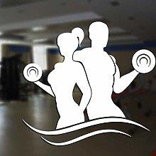 Adesivo da parete per club di fitness Adesivo in