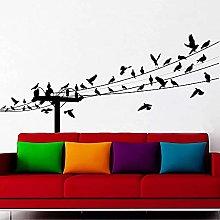 Adesivo da parete per uccelli Online Vinile Home