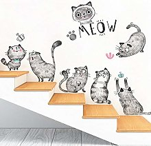 Adesivo Da Parete Personalità Letteraria Gatto