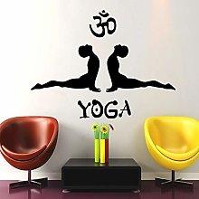 Adesivo Da Parete Posa Di Yoga Simbolo