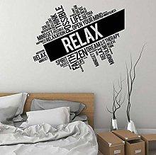 Adesivo Da Parete Relax Decalcomania Da Muro