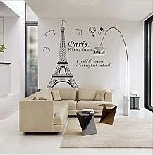 Adesivo da parete Romantico Parigi Torre Eiffel