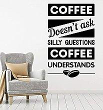 Adesivo da parete Segno di caffè Adesivo da