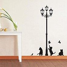 Adesivo decorativo con gatti e lampione sticker