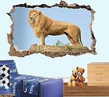 Adesivo Effetto 3D Stickers - Adesivi Murali,Lion
